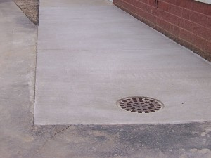 New Concrete Drain