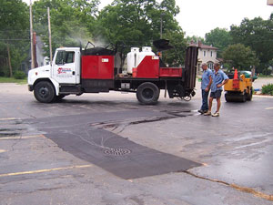 Infrared Asphalt Patching