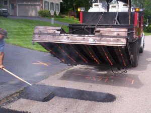 During Infrared Asphalt Repair