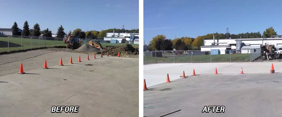 Concrete Flatwork Before & After